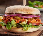 Fiery Shredded Chicken Burger image