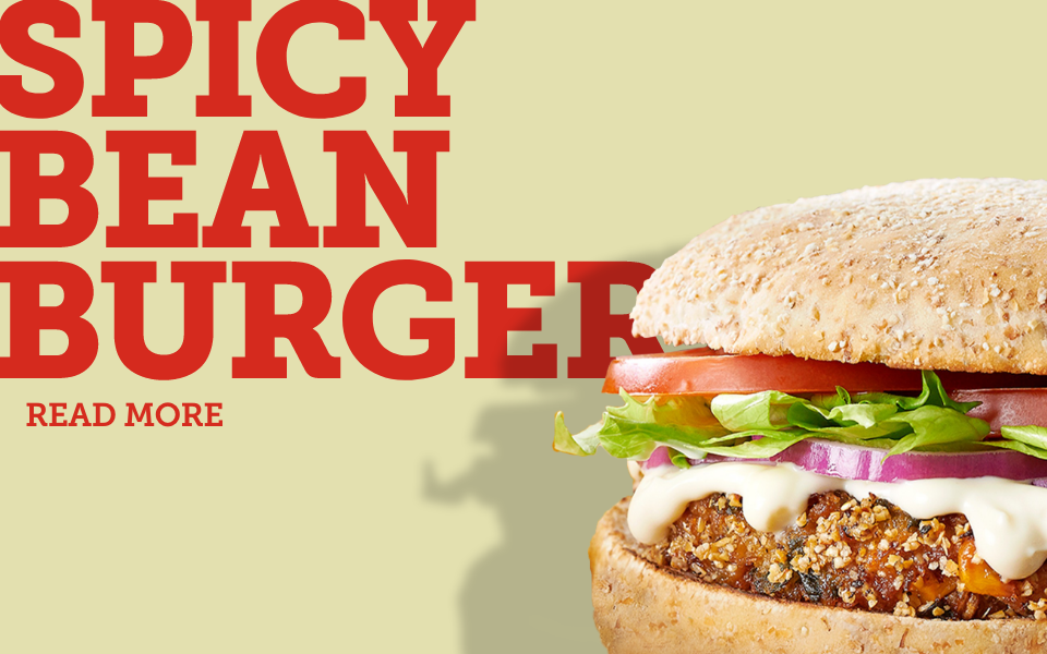 Born in the 80s… the Bean Burger is an icon! image
